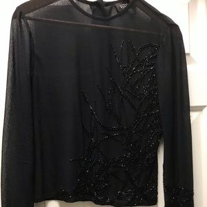 Ellen Tracy black blouse